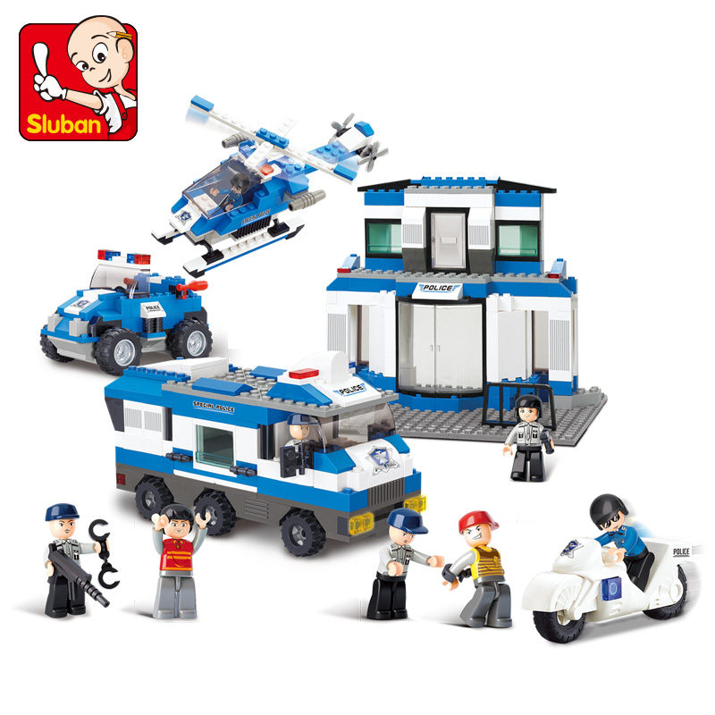 B0193 859pcs Building Blocks SimCity Series SWAT Headquarters Children's Enlightenment Educational Toys for Children image