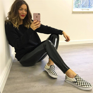 2018 Womens Ladies Soft Strethcy Shiny Wet Look Vinyl Leggings Trouser Pants Bottoms Women Sexy Pencil Pants
