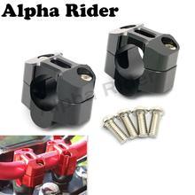 """Par CNC de Aluminio de La Motocicleta Pit Bike Dirt Manillar Arrastre Adaptador Fat Bar Montaje Del Manillar Riser Clamp 7/8 """"para 1 1/8 22mm A 28mm"""