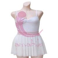 Ballet Dance Gymnastics Exercise Suit New White 30CM Ballet Ballet Skirt AS3001