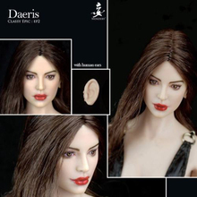 WONDERY 1/6 Scale Europe Girl Head sculpt Model with Removable Ears Ep02 Daeris Ava Carved for Pale PH Seamless Body