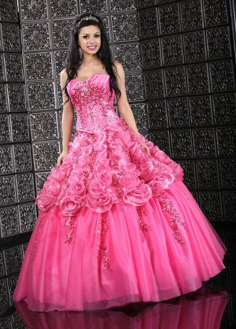 903b686d72 Fashionable Ball Gown Sweetheart Embroidered Beading Tull Hot Pink  Quinceanera Dress