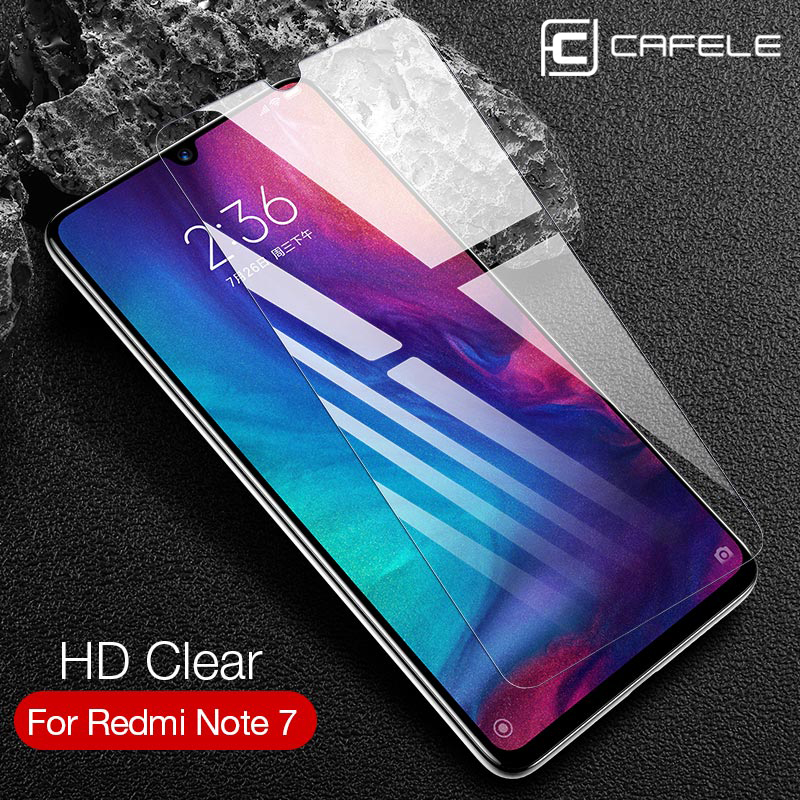 Cafele 2.5D Screen Protector For Redmi Note 7 Glass  Ultra-thin Tempered Flim Not Full Cover Protective Glass  For  Xiaomi Glass