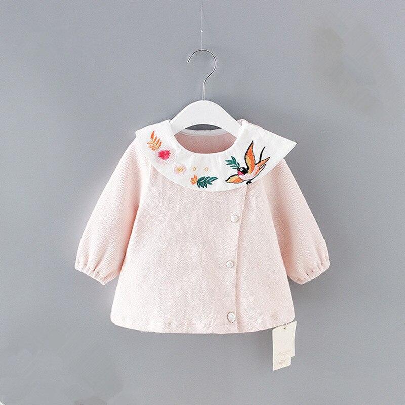 Gut 2018 Baby Mädchen Kleidung Neugeborenen Vogel Stickerei Baby Mädchen Langarm Shirt Tops Outfits Baby Mädchen Blusen 0-2y
