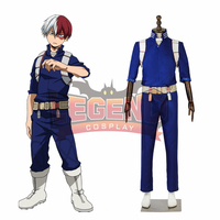 Anime My Hero Academia Shoto Todoroki Cosplay Costume Boku no Hero Akademia fight costume outfit men Costume
