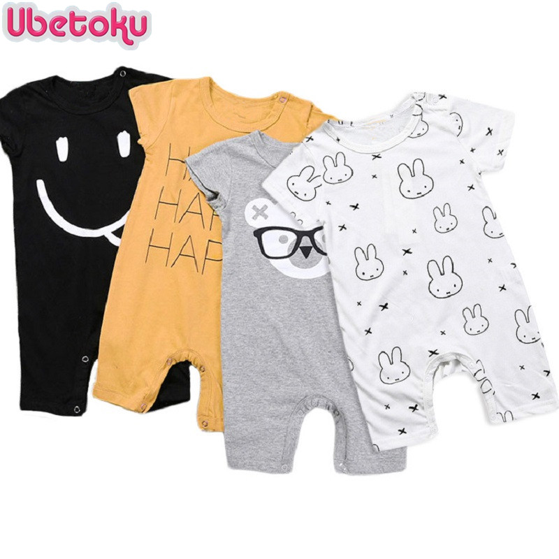 Ubetoku Summer cartoon Rompers Baby Girl Clothes Kid Jumpsuit Baby Boy girls Body Suit Clothing Short Sleeve Romper newborn baby rompers baby clothing 100% cotton infant jumpsuit ropa bebe long sleeve girl boys rompers costumes baby romper