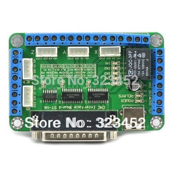 Free shipping! mach3 5 Axis CNC Breakout Board For Stepper Motor