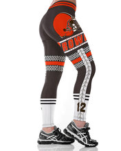 Cleveland B Team Fitness Leggings Fiber Elastic Hiphop Party Cheerleader Rooter Workout Pants Logo Trousers Dropshipping