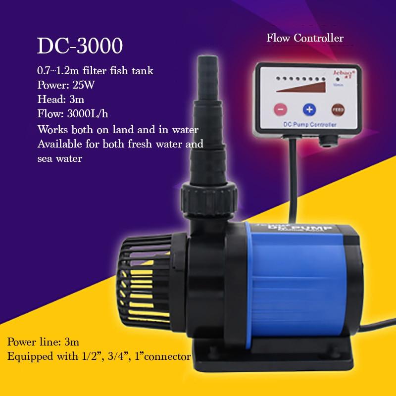 DC-3000 25W Quiet Electrical Aquarium Fish Tank Pump xi long ap 001 super quiet aquarium pet fish oxygenated air pump black 2 round pin plug