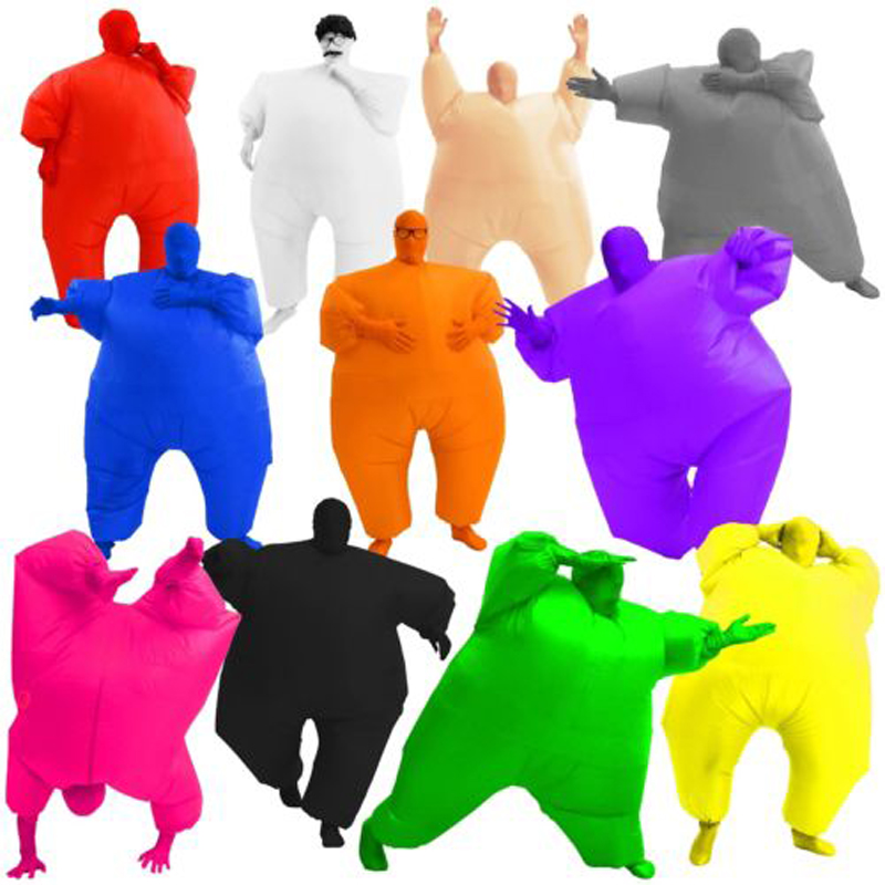 Adult Chubby Inflatable Suit Full Body Jumpsuit Multi Coloured Blown Up Gift New