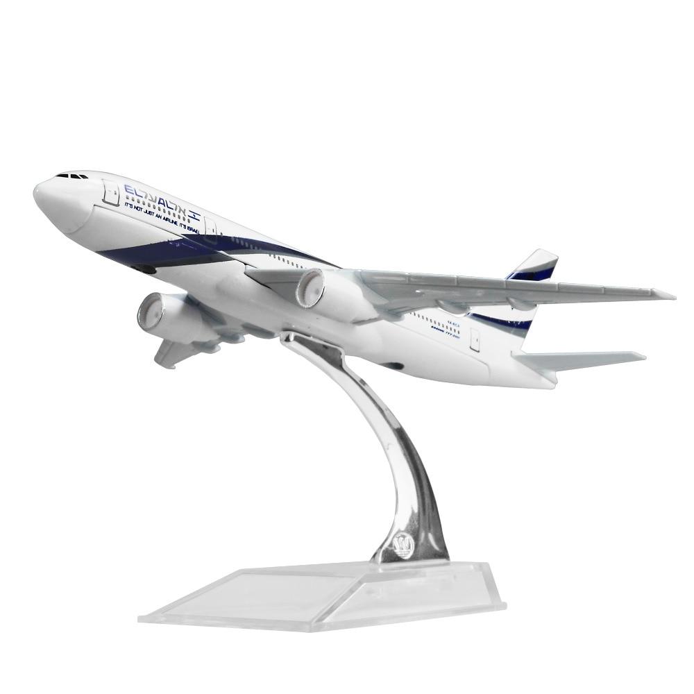 EL AL Israel Airlines Boeing 777 16cm Alloy Metal Model Aircraft Child Birthday Gift Plane Models Chiristmas Gift