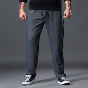 Image 2 - Fashion Large Size Sweat Pants Men Straight Casual Black Blue Grey Sport Pants Plus Size 5XL 6XL 7XL Mens Long Pants Trousers