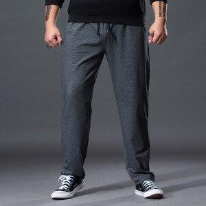 Image 2 - Mode grande taille pantalons de survêtement hommes droit décontracté noir bleu gris Sport pantalon grande taille 5XL 6XL 7XL hommes pantalons longs