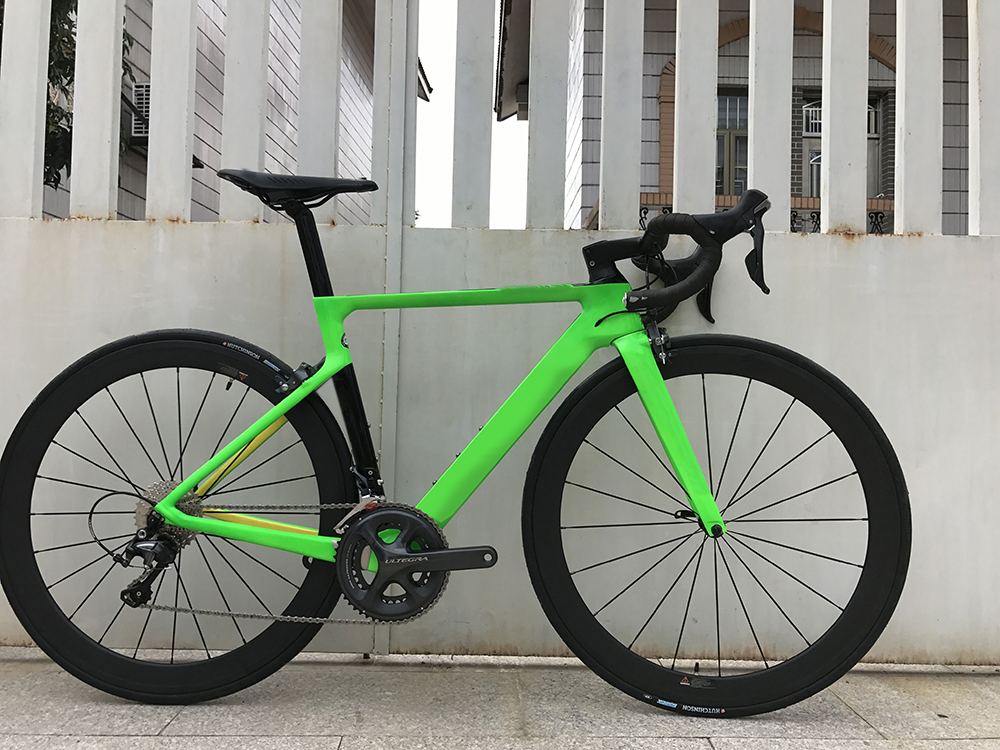 2018 Carbon Fibre Road Bike Complete Bicycle Carbon BICICLETTA Bicycle With Bike Group R8000 5800 Carbon 50mm Clincher