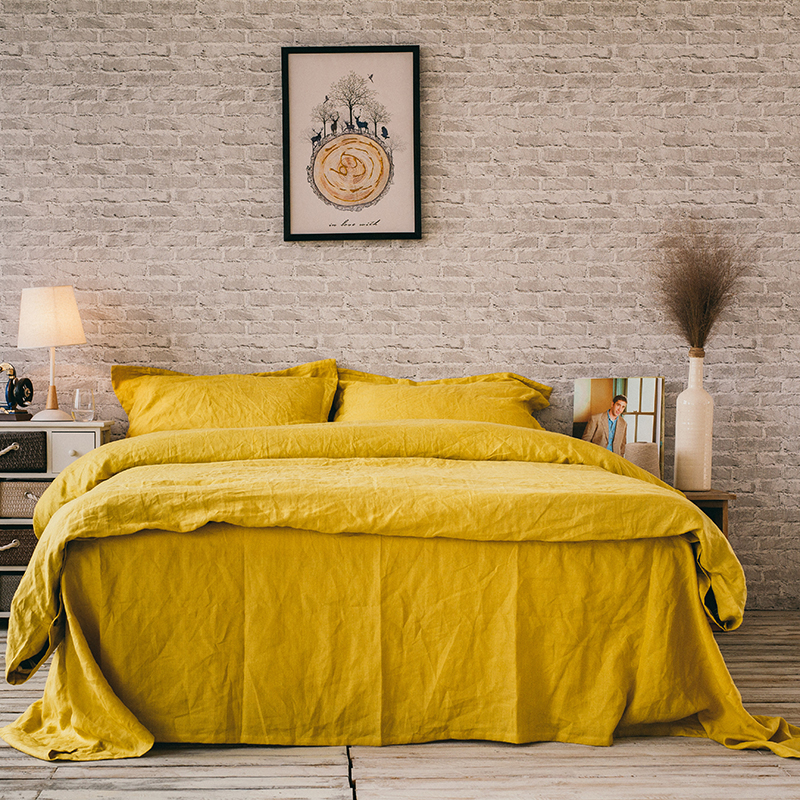 Duvet-Cover-Sets Pillowcase Fitted-Sheet Linens Custom-Size French And 4pcs Full/queen/king