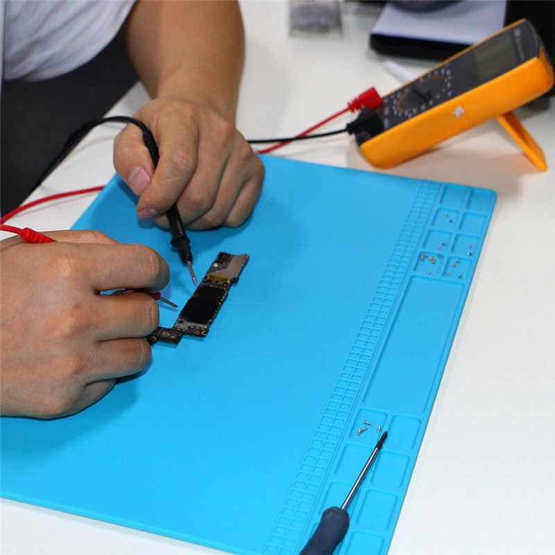 Šviesiai mėlynos spalvos šilumą izoliuojančio silikono padėklo - Įrankių komplektai - Nuotrauka 4