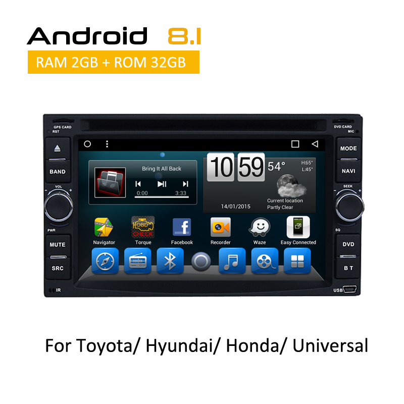 2din Android Car DVD GPS Navigation Support Radio 3G Wifi SWC Bluetooth Input iPod iPhone iPad TV 6 Universal Rear camera AUX