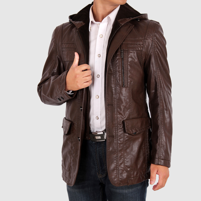 Faux Leather Coats Picture - More Detailed Picture about Men's ...