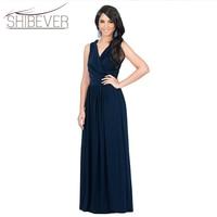 Summer Dress Plus Size Woman Elegant Long Dresses Sexy V Neck Party Dresses Sleeveless Casual Women