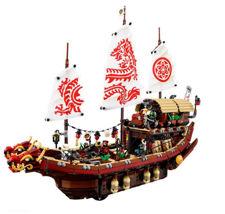 DHL Lepin 06057 2455pcs Ninja Final Fight Of Destiny\'s Bounty Building Block Compatible 70618 Brick Toy dhl in stock lepin 06057 2455pcs ninja final fight of destiny s bounty ship building blocks bricks set diy toys fit for 70618