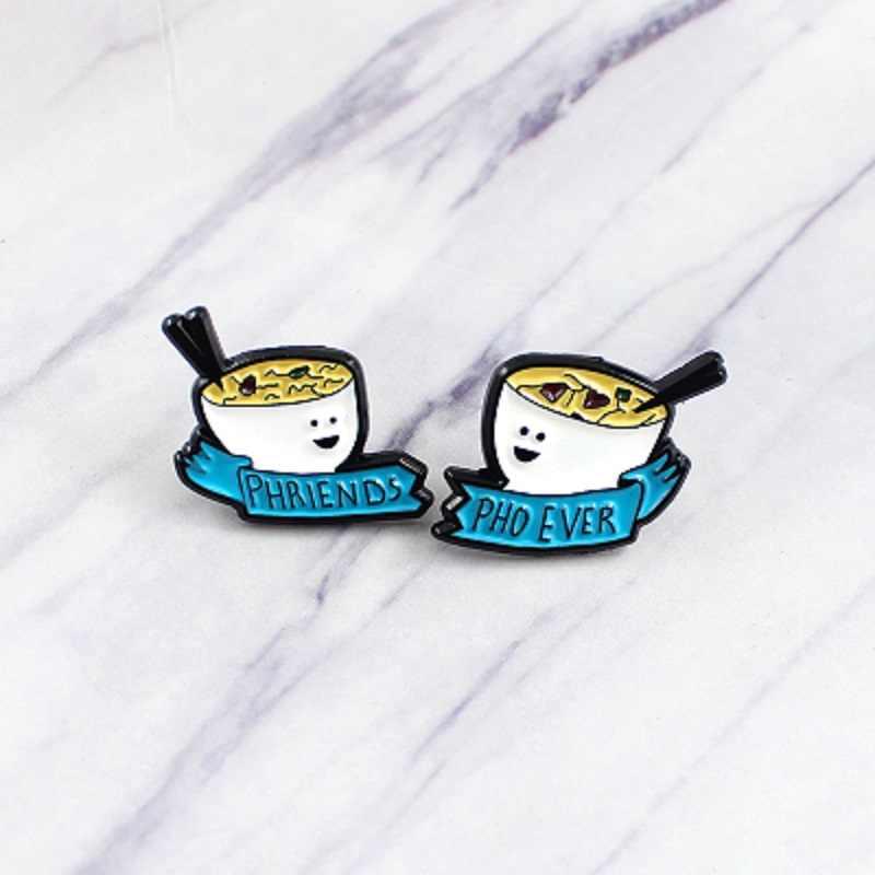Baru Piala Kucing Hantu Planet Double Breeze Jam Pasir Malas Kuning Telur Bros Anak Hewan Menyenangkan Bros Hadiah pakaian Perhiasan Bac