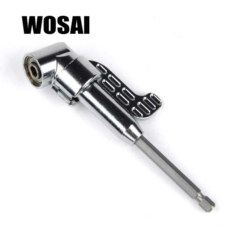 "WOSAI 1/4 ""magnetický úhlový bitový adaptér adaptéru šroubovák 360 stupňů nastavitelný palec příruby Off-set Power Head Power Drill Drive"