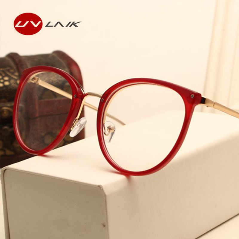 c19fae1f9e7 Detail Feedback Questions about UVLAIK Optical Lens Glasses Women Myopia Eyeglasses  Frames Trend Metal Spectacles Clear Lenses Women s Glasses on ...