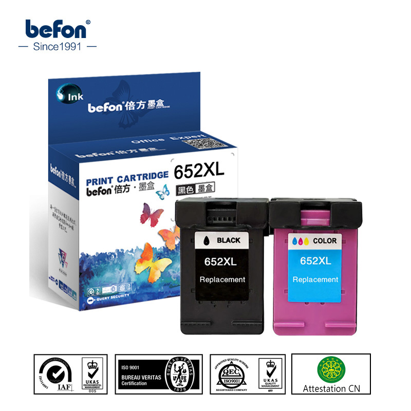 Color Ink Cartridge for HP652XL HP652 HP 652 652XL XL Compatible for HP Deskjet 1115 1118