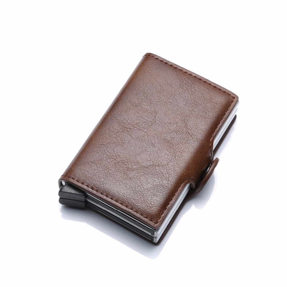 negócios dupla camada titular do cartão carteira para o homem