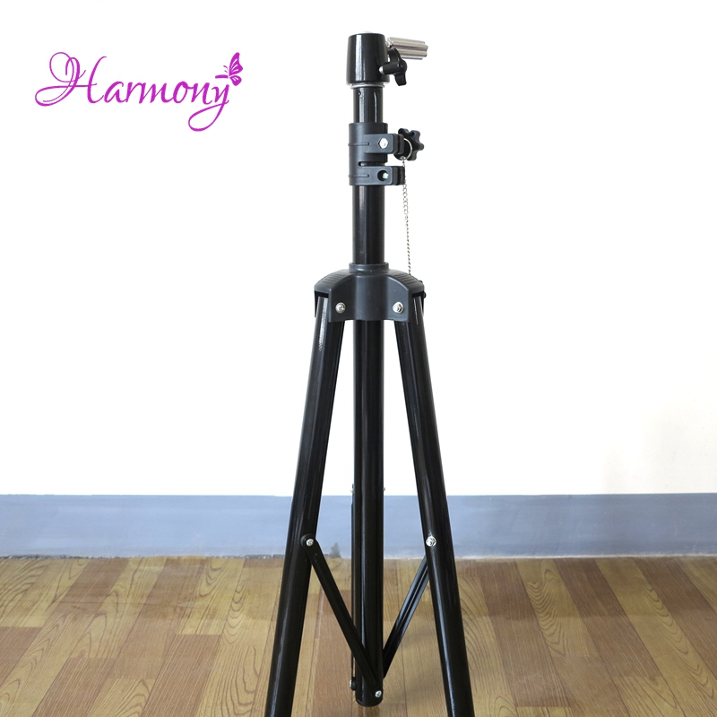 Harmony 1 Piece Lf-1057 Black Adjustable Tripod Stand Holder For Display Training Doll Head Hairdressing Practice Mannequin Head Special Buy Hair Extensions & Wigs