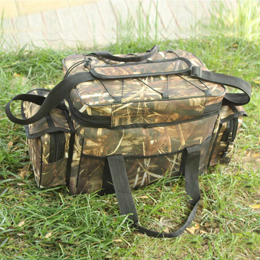 Waterproof Fishing Bag Tackle Storage Box Waist Shoulder Carry Handbag Pouch Camo Color