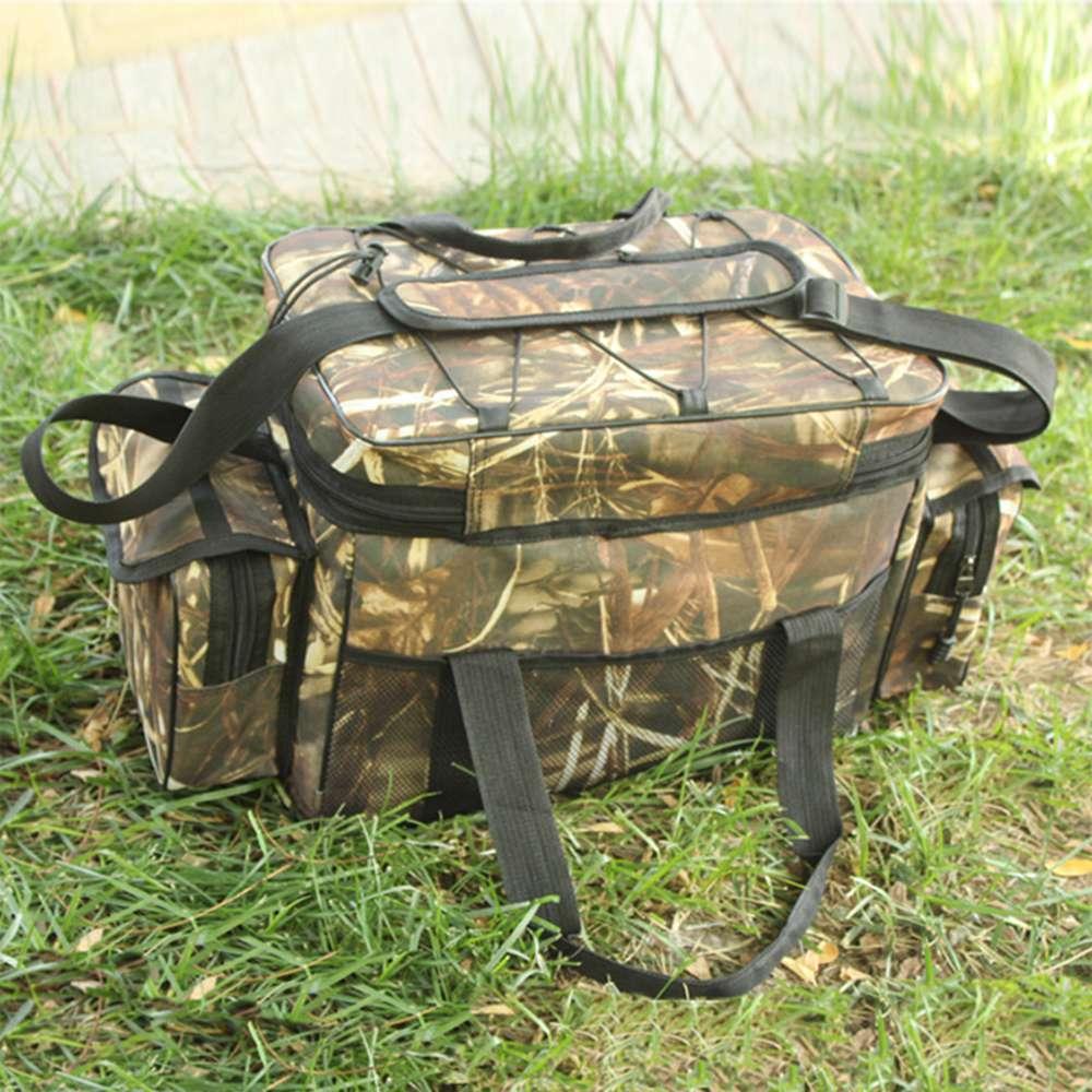 Waterproof Fishing Bag Tackle Storage Box Waist Shoulder Carry Handbag Pouch Camo Color