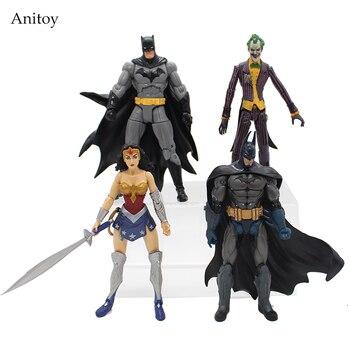 Heróis da DC Batman Joker Mulher Maravilha Figura de Ação PVC Crianças Brinquedos Presente para As Crianças 7
