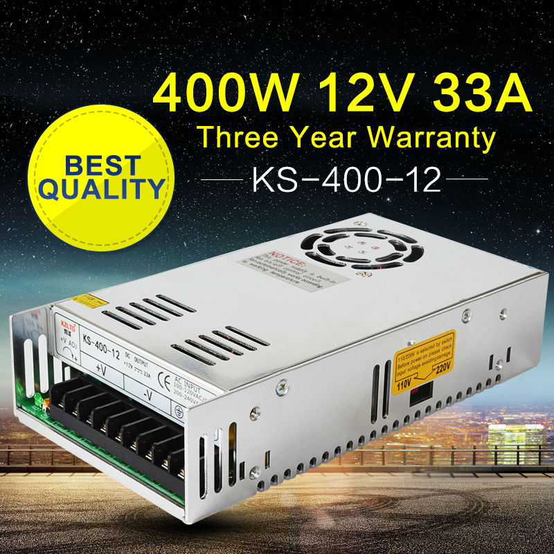 LED 12V DC Power Supply 400W AC-DC Converter 220V to 12V Power Adapter 12V Regulated Power Supply for LED Module Light Videcam