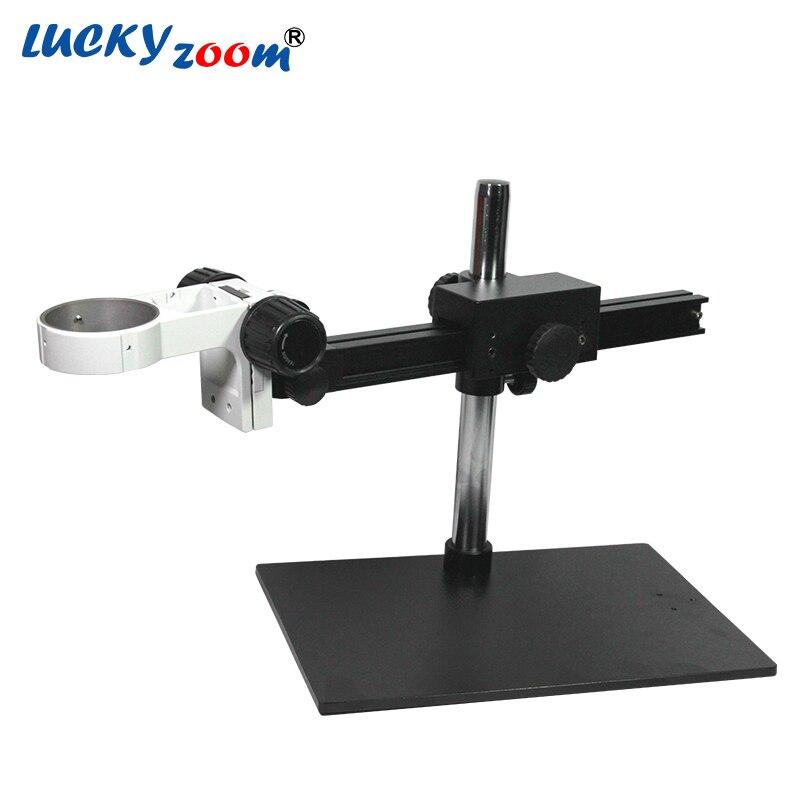 Luckyzoom Boom Unico Braccio Staffa Per Trinocular Stereo Zoom Stativo del microscopio Con Regolazione Microscopio Riparazione Del Telefono PCB Fase