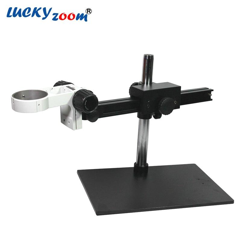 Luckyzoom Rampe Unique Microscope Stéréo de Bourdonnement de Support Avec Bras Réglable Support Pour Trinoculaire Microscopio Téléphone Réparation PCB D'étape