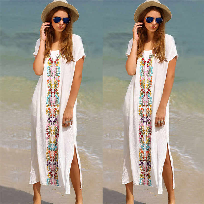 3c4d753766be Detail Feedback Questions about Women Summer Kaftan Beach Swimwear ...
