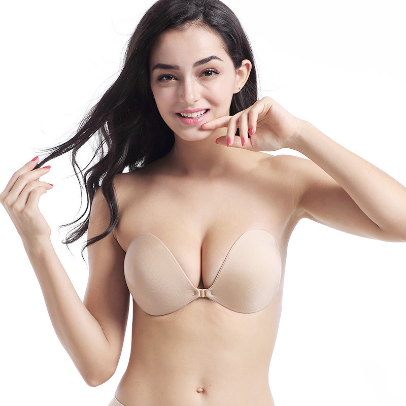 Women Invisible Breast Lift Tape Silicone Push Up Bra Adhesive Nipple Cover Set
