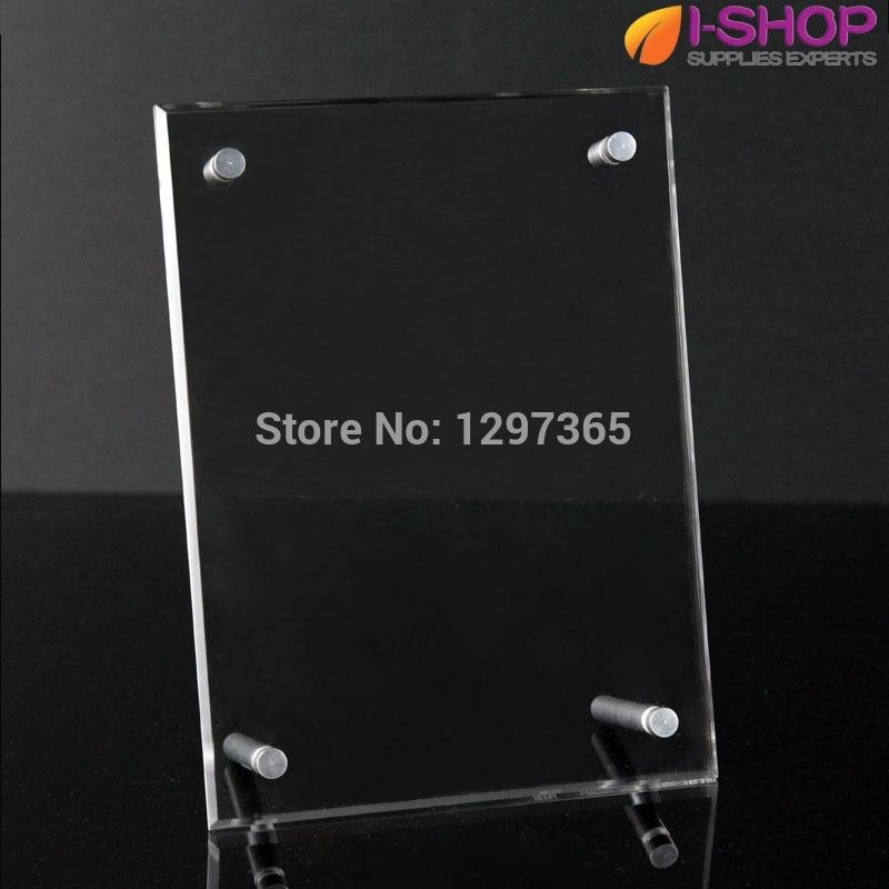Plexiglass Photo Frames Acrylic Picture Frame With Screw