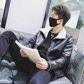 2016 мужская осень и зима новый кашемир кожаная куртка Корейской случайный мужчина куртка шерсти ягненка шить куртки теплые моды мужчины