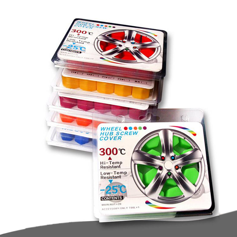 20 pcs multicolor <font><b>Silicone</b></font> cap <font><b>nut</b></font> <font><b>Car</b></font> <font><b>Wheel</b></font> <font><b>Nuts</b></font> Cap <font><b>wheel</b></font> cap tyre screws <font><b>cover</b></font> bolt <font><b>Wheel</b></font> Bolt Caps 17mm 19mm 21mm image
