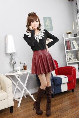 Aliexpress.com : Buy 2015 Women's Leather Skirt Autumn Winter ...