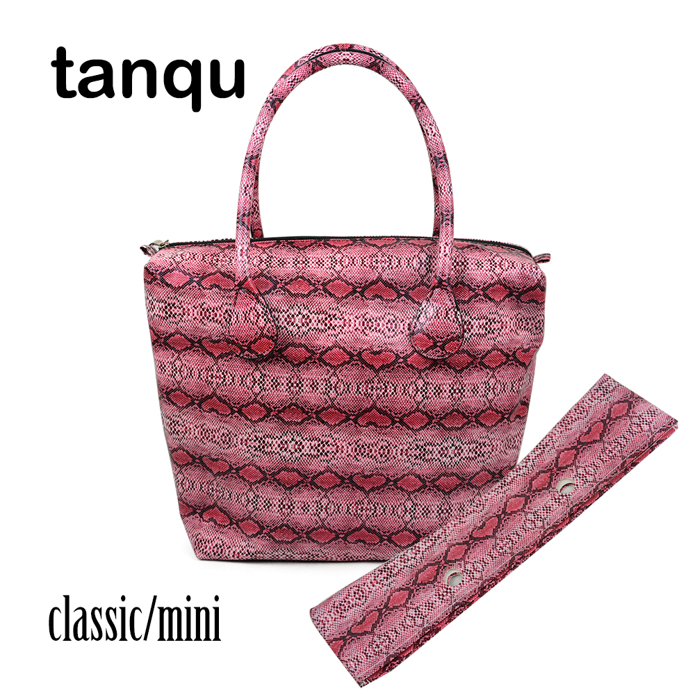 цены tanqu Leather Lining for Classic Mini Obag Waterproof Faux Snakeskin Serpentine Insert Pocket Plus Trim Handle Combination