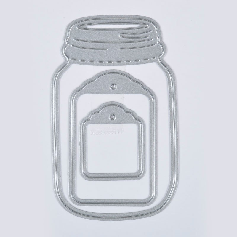 3pcs Wishing Bottle Cutting Dies Stencil Scrapbooking Album Paper Card Craft DIY