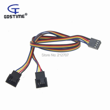 10 pcs/lot 12V 4 Pin Female to 3/4 Male PC Fan Power Splitter Extension Cable