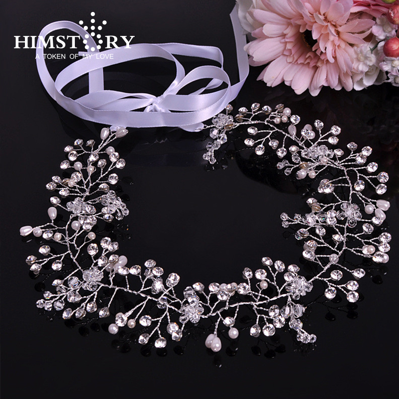 Rhinstone And Pearl Bridal Hair Vine Wedding Headpiece in Hair Jewelry from Jewelry Accessories