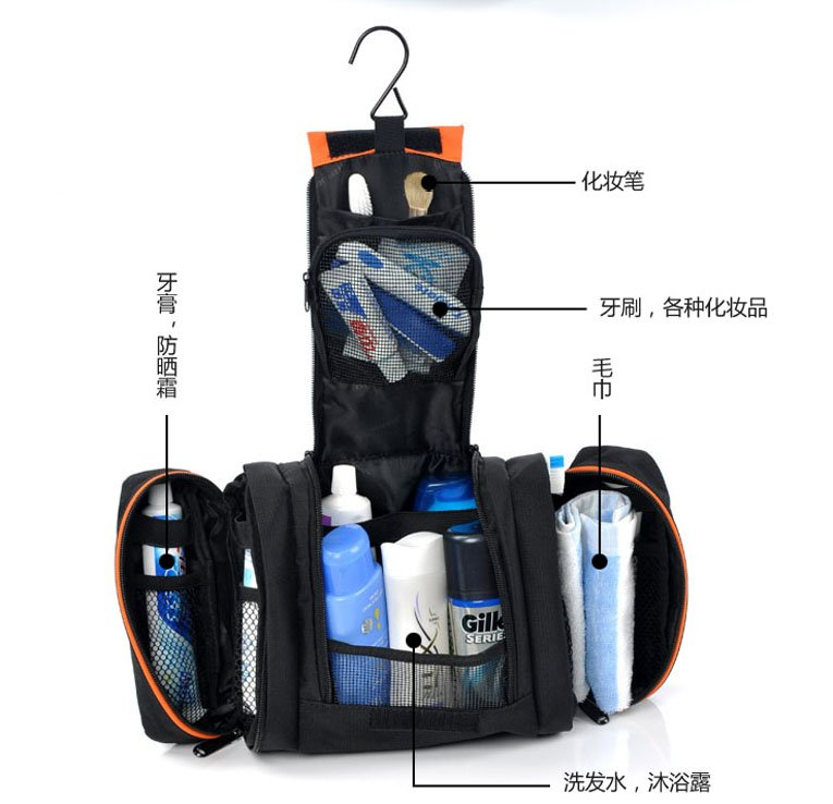 Free Shipping 3 In 1 Toiletry Bag Travel Kit Wash