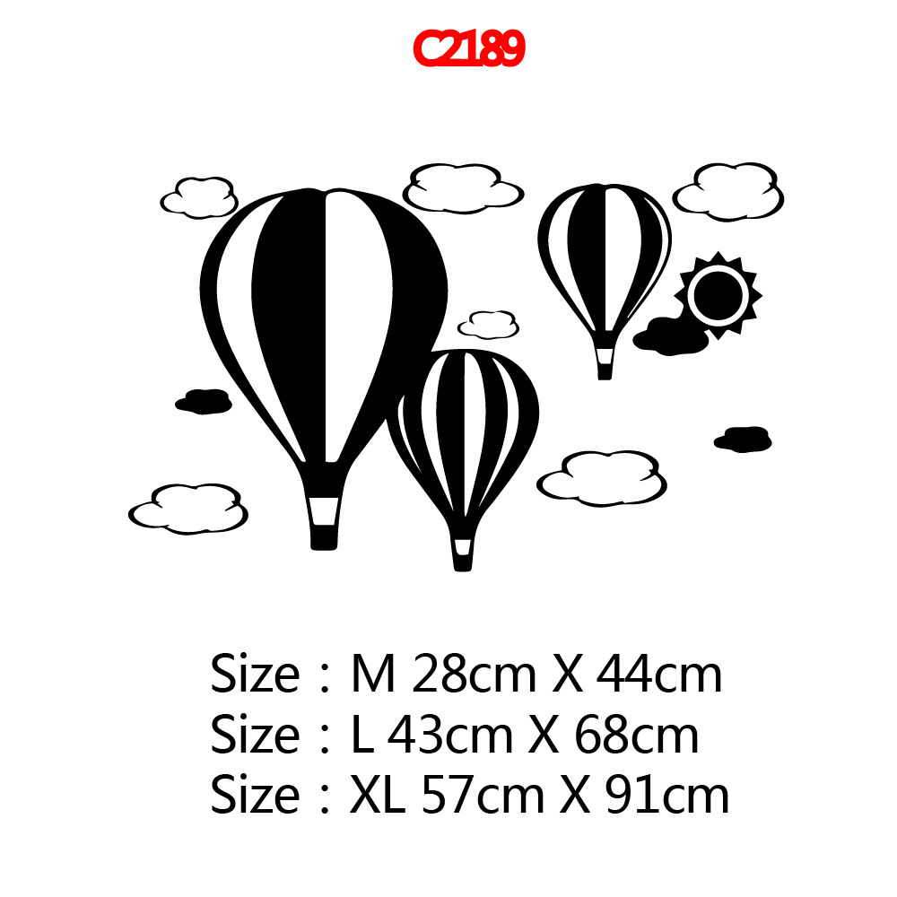 Large Hot Balloon Vinyl Wall Sticker Decor For Baby 39 s Room Kids Room Decoration Vinyl Decal Stickers muursticker wallsticker in Wall Stickers from Home amp Garden