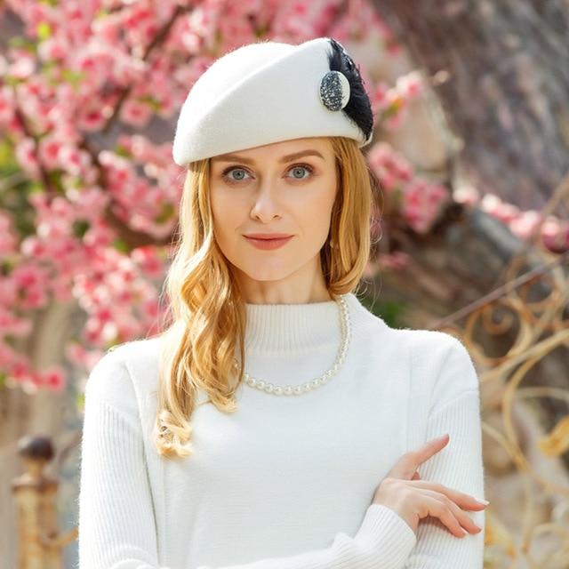 FS British White Wool Beret...