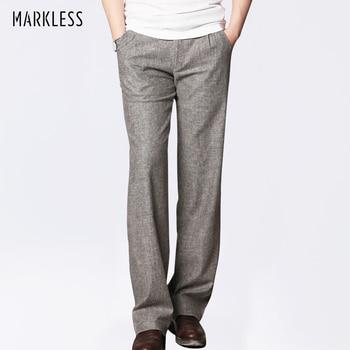Markless Thin Linen Men Pants